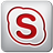 icon skype red